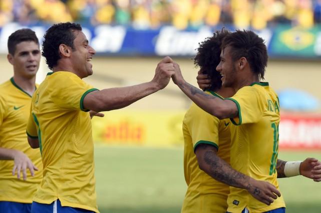 L'équipe brésilienne a remporté ses neuf derniers matchs... (Photo Evaristo Sa, AFP)