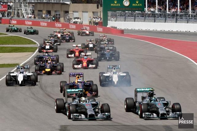 La F1, réputée vivre au-dessus de ses moyens,... (Photo Bernard Brault, La Presse)