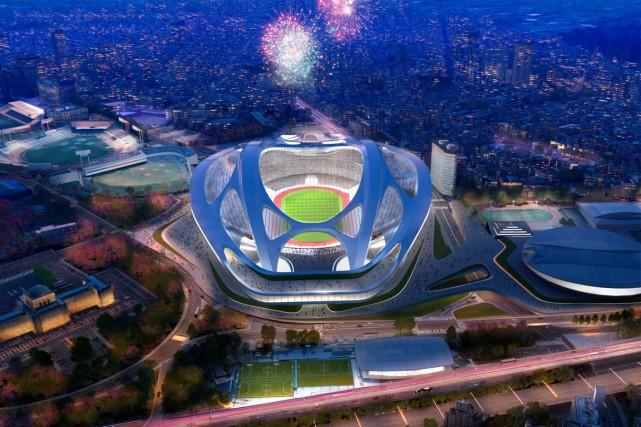 La constructiondu Stade national de Tokyo de 80... (PHOTO AP)