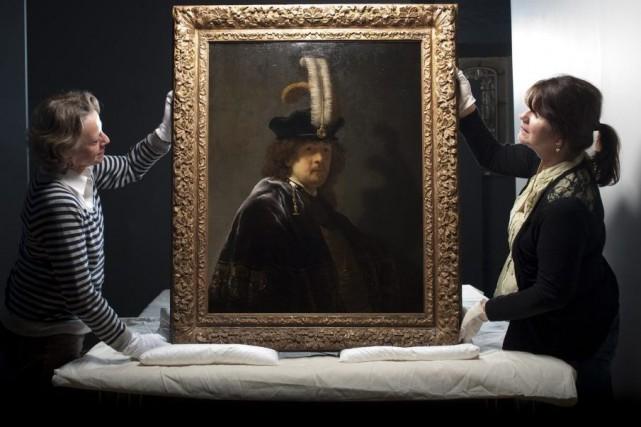 Un autoportrait de Rembrandt dont l'authenticité a été... (Photo: AP)