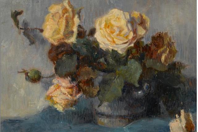 Cette toile de Gauguin, intituléeBouquet de Roses, était... (Photo fournie par Bonhams)