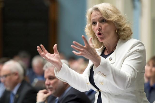 La ministre de la Sécurité publique, Lise Thériault.... (Photo: PC)