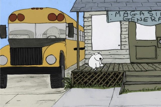 Un autobus, des chemins de campagne, des enfants souriants et turbulents, des... (Photo: fournie par l'ONF)