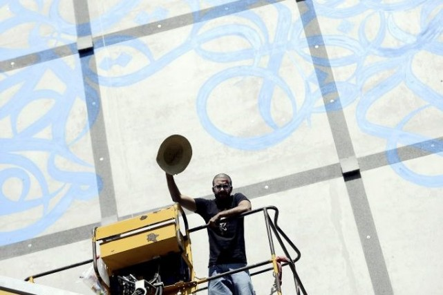 El Seed au travail.... (Photo: AFP)