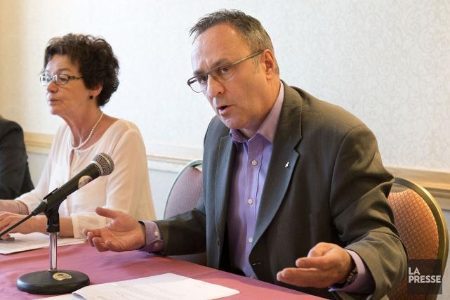 La présidente de la CSQ, Louise Chabot, etle... (Photo Robert Skinner, Archives La Presse)