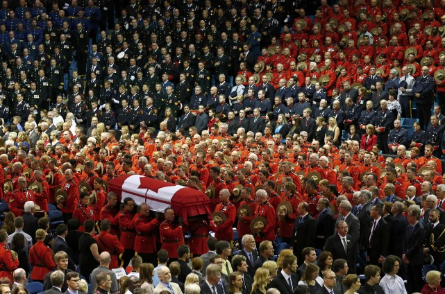 Les trois victimes de la fusillade de Moncton... (Photo Mark Blinch, Reuters)