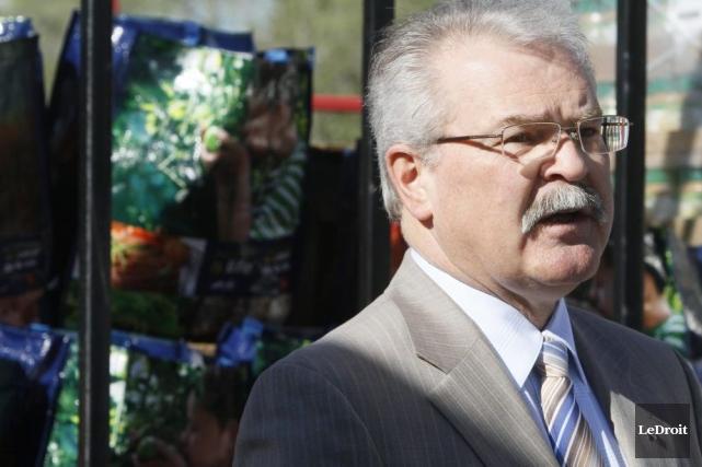 Le ministre de l'Agriculture du Canada, Gerry Ritz.... (Photo Simon Séguin-Bertrand, Archives LeDroit)