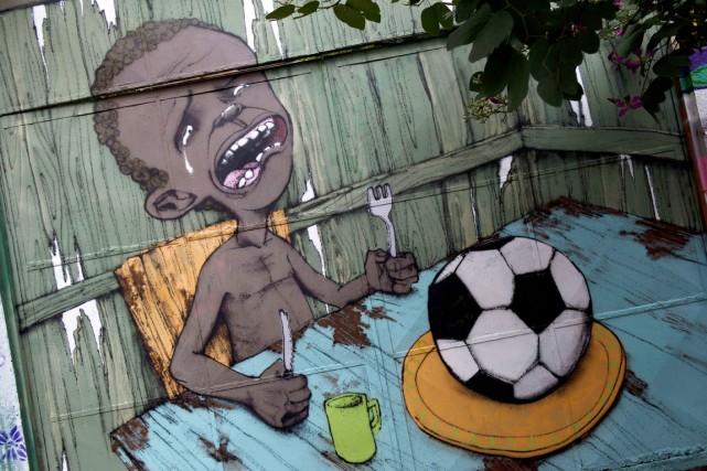 Au cours des derniers mois, les murs de... (PHOTO NELSON ALMEIDA, ARCHIVES AFP)