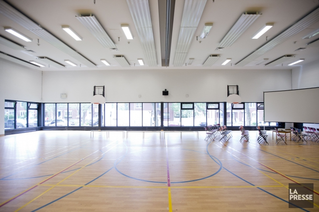 Le nouveau gymnase de l'école Barclay, dans Parc-Extension.... (Archives, La Presse)