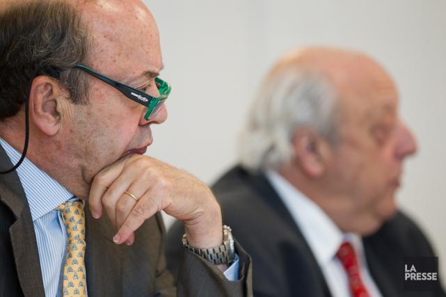 Le président deReitmansStephen Reitman et le président du... (PHOTO EDOUARD PLANTE-FRÉCHETTE, LA PRESSE)