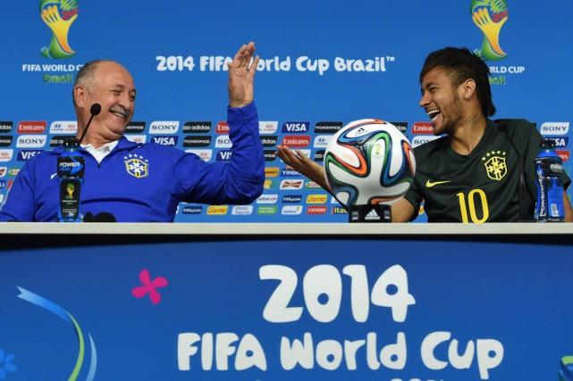 Luiz Felipe Scolari est réputé pour offrir un... (Photo Pedro Ugarte, AFP)