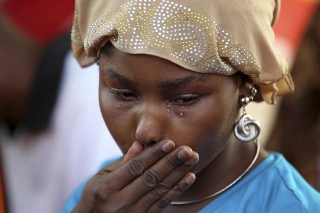Le sort des jeunes filles a suscité une... (Photo AFOLABI SOTUNDE, Reuters)