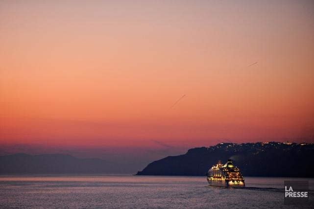 Santorin est l'un des principaux lieux touristiques de... (Photo Bernard Brault, Archives La Presse)