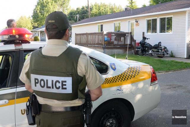 Les policiers avaient procédé à une vingtaine de... (Photo: Sylvain Mayer, Le Nouvelliste)