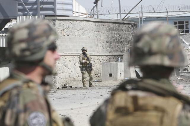 Trois militaires américains ont été tués vendredi par l'explosion d'une bombe... (Photo Musadeq Sadeq, Archives AP)