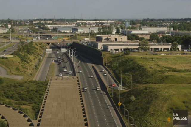 Une partie de l'autoroute 13 sera complètement fermée... (Photo Bernard Brault, archives La Presse)