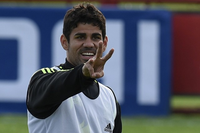 Diego Costa... (Photo Lluis Gene, AFP)