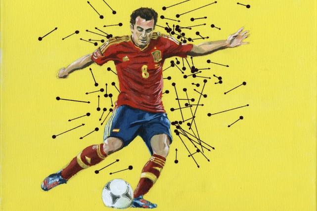 Au foot, les statistiques n'illustrent pas toujours adéquatement... (Peinture Patrick Leduc, collaboration spéciale)