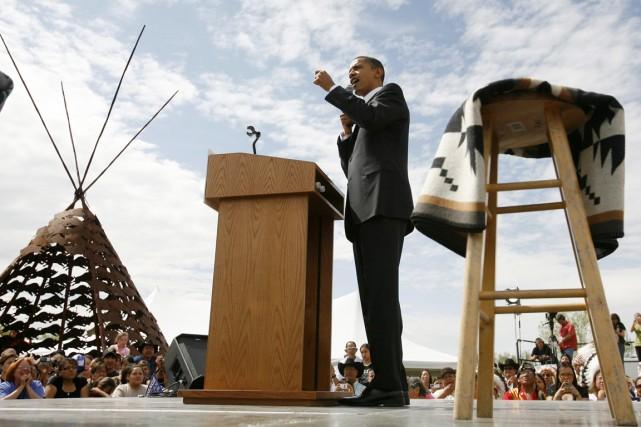 Il y a six ans, le candidat démocrate... (PHOTO CHRIS CARLSON, ARCHIVES AP)