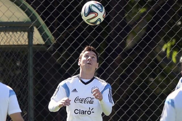 Lionel Messi et l'Argentine affronteront la Bosnie-Herzégovine dimanche,... (Photo Juan Mabromata, AFP)