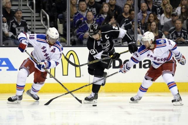 Les Rangers et les Kings ont été séparés... (Photo USA TODAY Sports)
