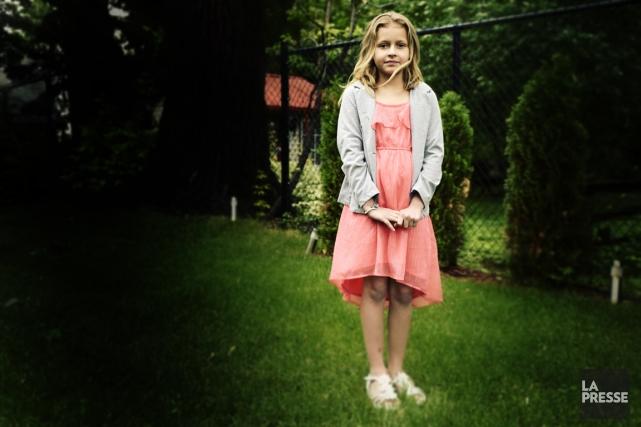 Layla Archambault, 9 ans, a perdu son père... (Photo Bernard Brault, La Presse)