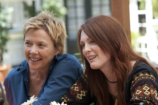 Julianne Moore et Annette Bening forment un couple lesbien vieux de 20 ans,... (Photo AP)