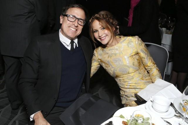 David O. Russell et Jennifer Lawrence... (ARCHIVES AP)