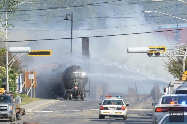 La tragédie de Lac-Mégantic a fait 47 victimes... (Photothèque La Tribune)