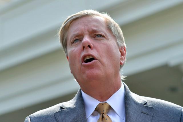 Le sénateur Lindsey Graham est un critique fréquent... (PHOTO ARCHIVES AFP)