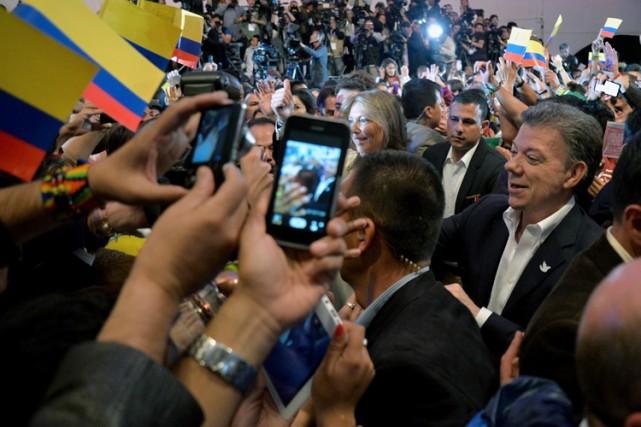 Au pouvoir depuis 2010,Juan Manuel Santosavait fait d'un... (Photo: AFP)