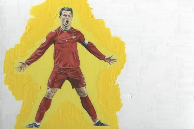 Cristiano Ronaldo a l'aura d'un superhéros. J'ai voulu... (Peinture Patrick Leduc, collaboration spéciale)