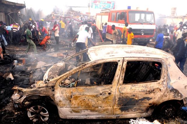 Boko Haram, qui a revendiqué l'enlèvement de plus... (PHOTO ARCHIVES AFP/STR)