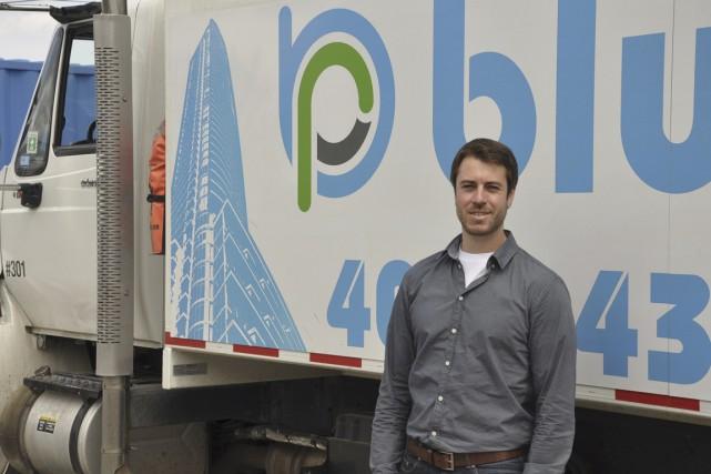 Devin Goss est président de BluPlanet Recycling.... (PHOTO FOURNIE PAR BLUPLANET RECYCLING)