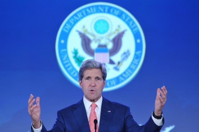 Le secrétaire d'État américain John Kerry, à Washington,... (PHOTO MANDEL NGAN, AFP)