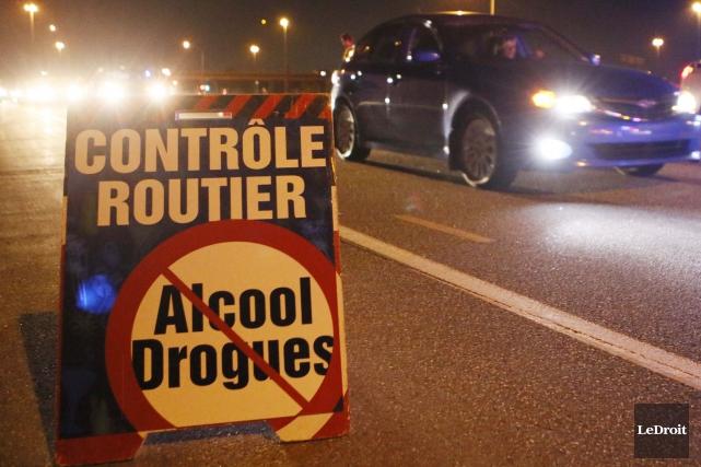 Plus ça change...Un conducteur a été arrêté pour une septième fois avec les... (Archives, LeDroit)