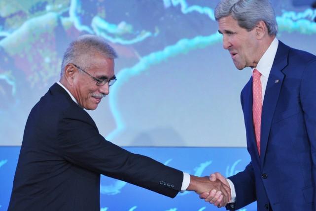 Le président de la République des Kiribati, Anote... (PHOTO MANDEL NGAN, AFP)