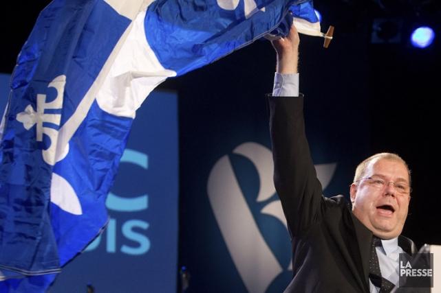 Le nouveau chef du Bloc québécois, Mario Beaulieu,... (Photo: Robert Skinner, La Presse)