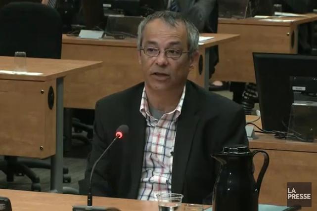 Bruno Lortie... (Photo tirée d'une vidéo, La Presse)