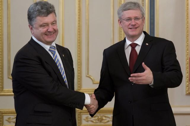 Le premier ministre canadien Stephen Harper a été... (PHOTO ADRIAN WYLD, ARCHIVES LA PRESSE CANADIENNE)