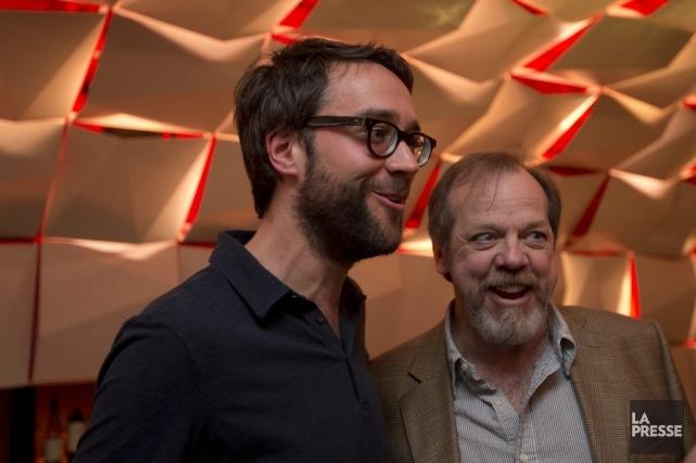 François Létourneau et Guy Nadon étaient tout sourire,... (PHOTO OLIVIER JEAN, LA PRESSE)