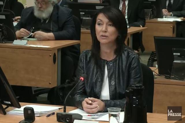 Devant la commission Charbonneau, Nathalie Normandeau s'est dite « révoltée »... (Photo tirée d'une vidéo, La Presse)