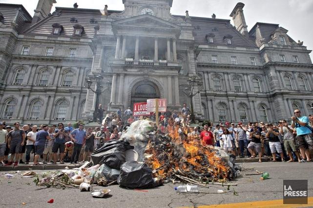 Le fait d'avoir allumé un feu sur la... (Photo Patrick Sanfaçon, La Presse)