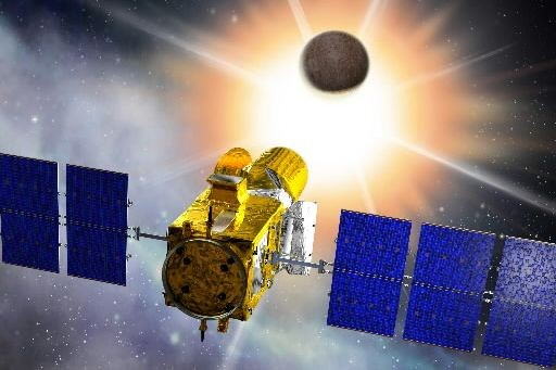 Illustration représentant le satellite français Corot.... (Photo : AFP)