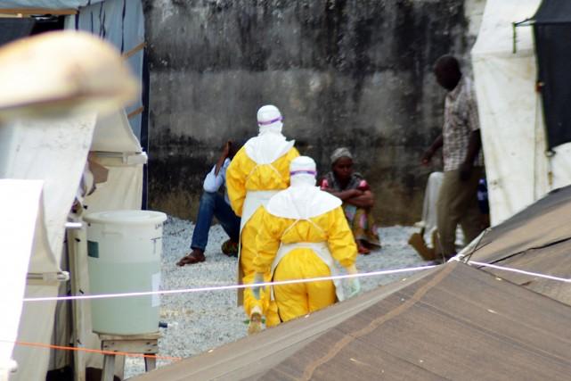 Le virus Ebola, qui provoque des fièvres hémorragiques,... (PHOTO CELLOU BINANI, ARCHIVES AFP)