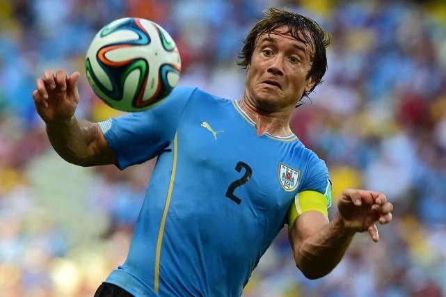 Le capitaine de l'Uruguay, Diego Lugano.... (Photo Ronaldo Schemidt, AFP)