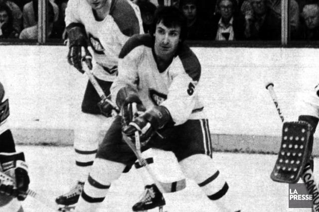 Guy Lapointe avec le Canadien en 1977.... (Photo Yves Beauchamp, archives La Presse)