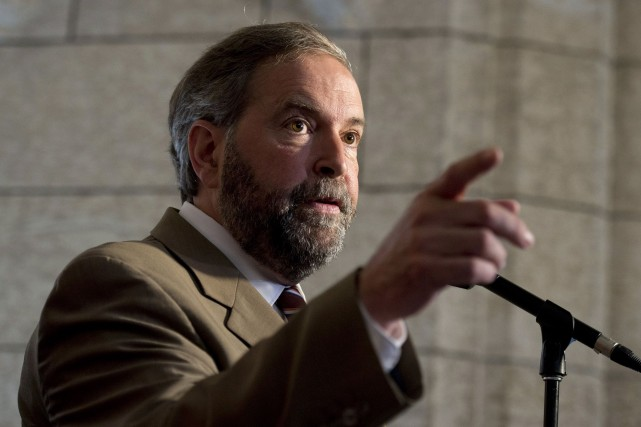 Le chef du NPD Thomas Mulcair a, entre... (Photo Adrian Wyld, PC)