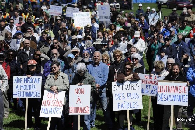 Les opposants à l'aide médicale à mourir utilisent... (Photo Patrice Laroche, archives Le Soleil)