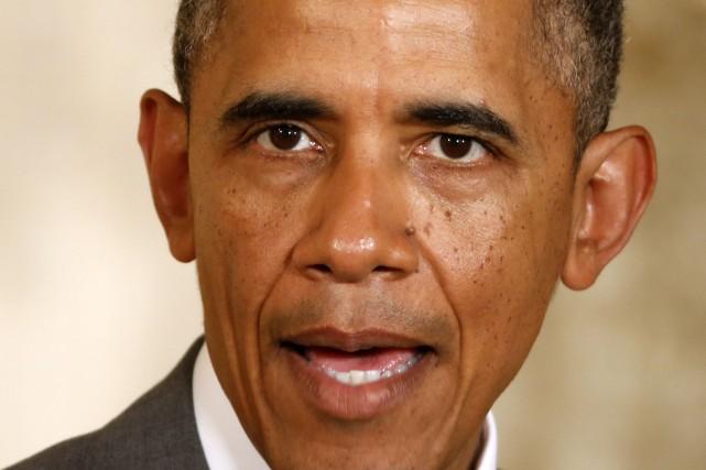 Le président américain, Barack Obama... (Photo Kevin Lamarque, Reuters)